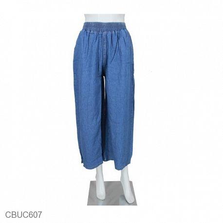 Celana Kulot Jeans Light Blue