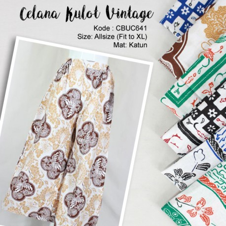 Celana Kulot Vintage Etnik