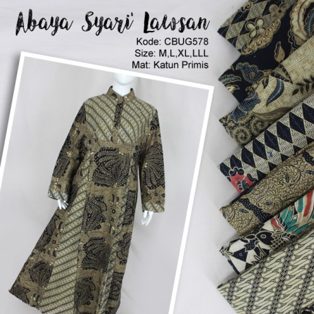 Comfy Syari Dress Batik Lawasan
