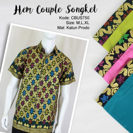 Couple Hem Katun Prodo Songket