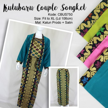 Couple Kutubaru Katun Prodo Songket