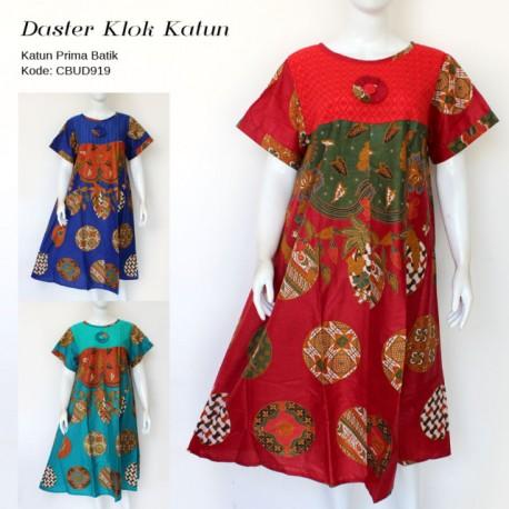 Daster Batik Klok Katun Motif Rembulan Bunga