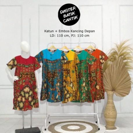 Daster Katun Batik Kombinasi Embos