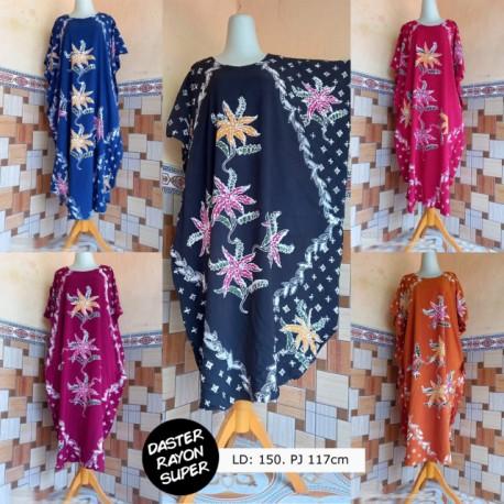 Daster Kelelawar Batik Warna Motif Bunga