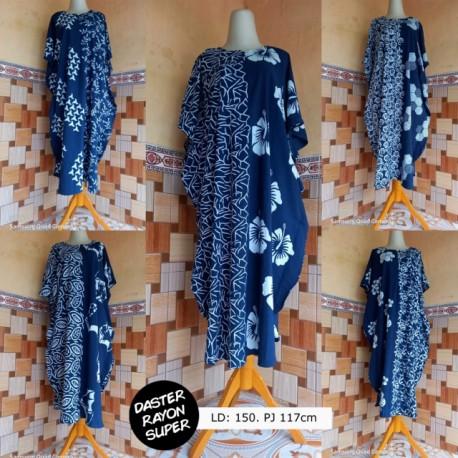 Daster Kelelawar Batik Biru Cantik