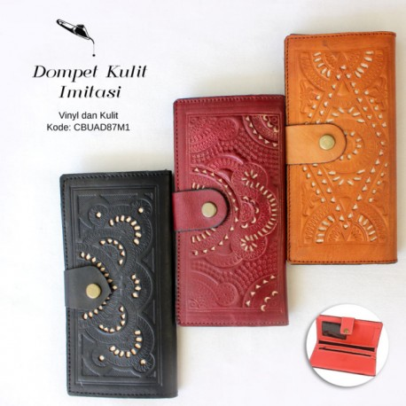 Dompet Mini Warna Ukir