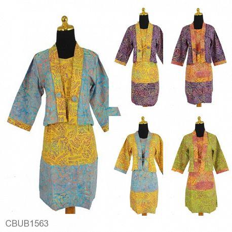 Dress Agnes Motif Godhong Asem