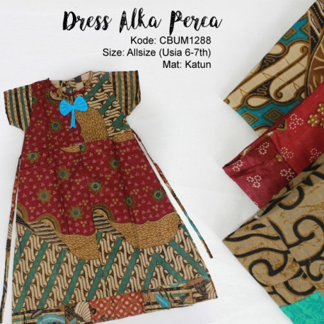 Dress Anak Alka Perca Abstrak