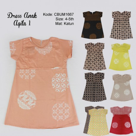 Dress Anak Aqila Kotemporer 1