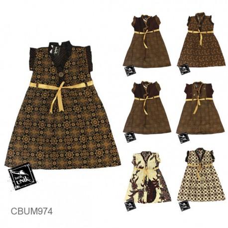 Dress Anak Arsy Motif Capocino Size M