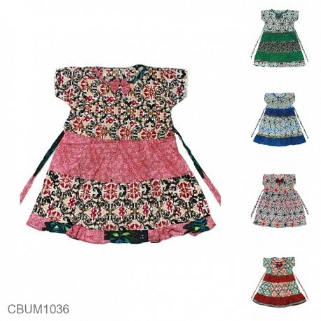 Dress Anak Arsy Motif Perca Warna 3th