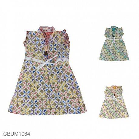 Dress Anak Arsy Motif Kawung Crayon