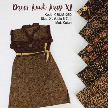 Dress Anak Arsy Motif Capocino Size XL