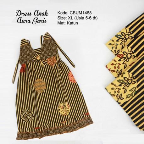 Dress Anak Aura Motif Garis Size XL
