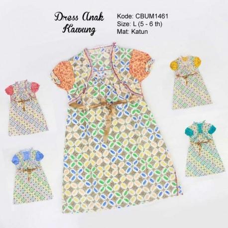 Dress Anak Batik Rompi Kawung Size L