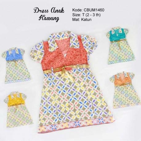 Dress Anak Batik Pias Kawung Size T