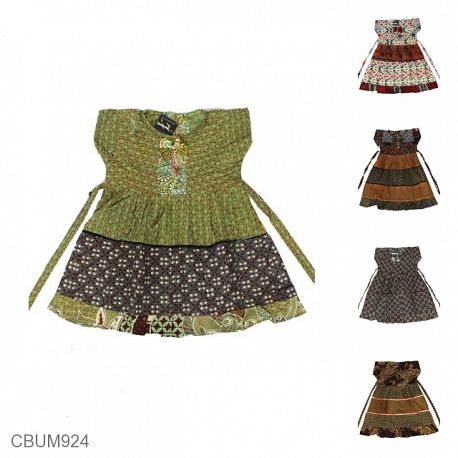 Dress Anak Caca Motif Kotemporer Perca