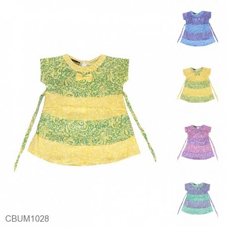 Dress Anak Carla Motif Dedaunan