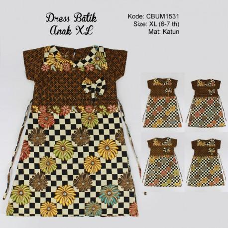 Dress Anak Hasna Kotak Size XL
