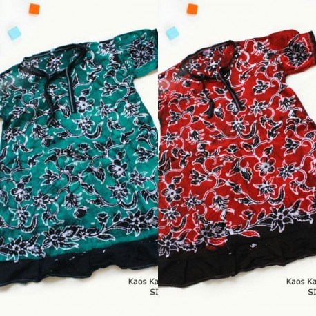 Dress Anak Daster Kaos Batik Tuban Size 1 (2-3 th)