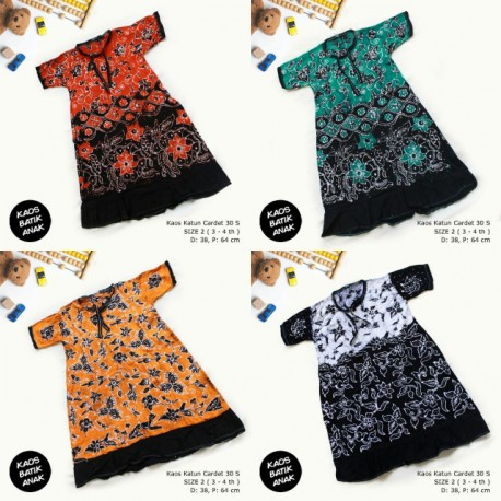 Dress Anak Daster Kaos Batik Tuban Size 2 (3-4 th)