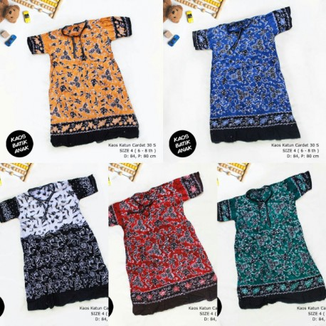 Dress Anak Daster Kaos Batik Tuban Size 4  (6-8 th)