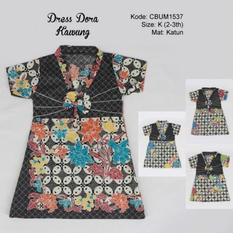 Dress Anak Dora Motif Kawung Size K