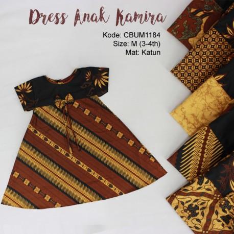 Dress Anak Kamira Motif Klasik Size M