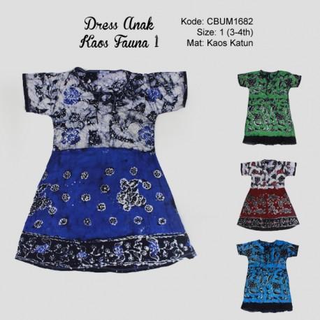 Dress Anak Kaos Fauna 1
