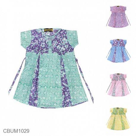 Dress Anak Kelana Motif Dedaunan