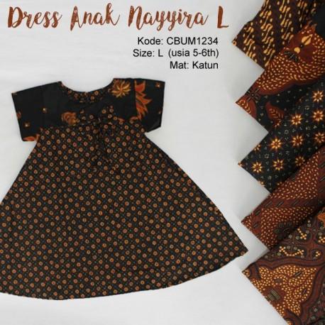 Dress Anak Nayyira Motif Klasik Size L