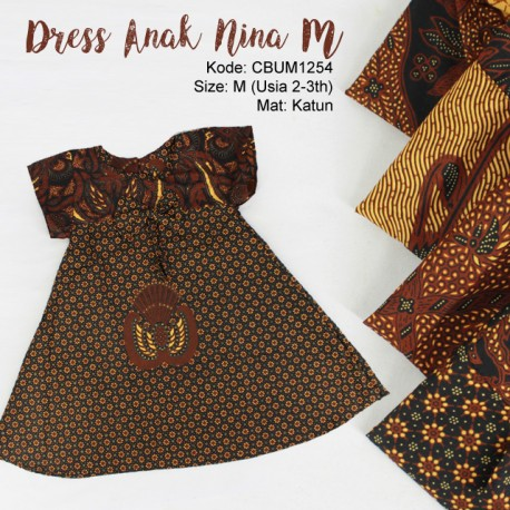 Dress Anak Nina Motif Klasik Size M