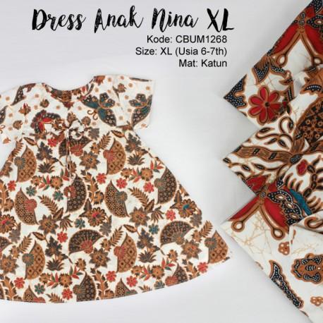 Dress Anak Nina Motif Kipas XL