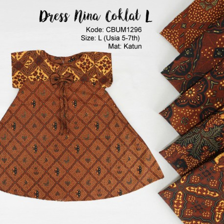 Dress Anak Nina Motif Klasik L