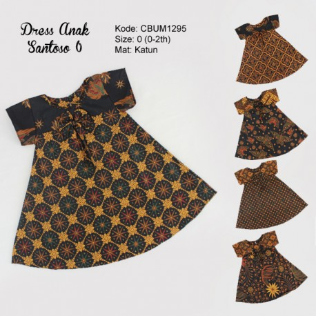 Dress Anak Nina Motif Santoso Size 0