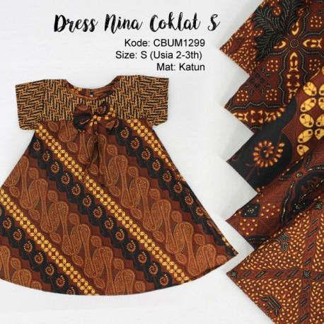 Dress Anak Nina Motif Klasik S