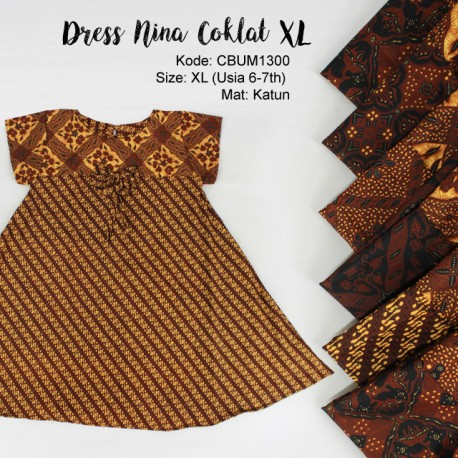 Dress Anak Nina Motif Klasik XL