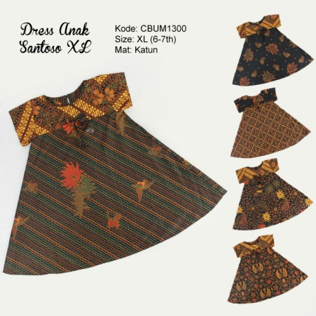 Dress Anak Nina Motif Santoso Size XL