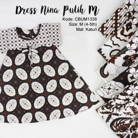 Dress Anak Nina Motif Klasik Putih M