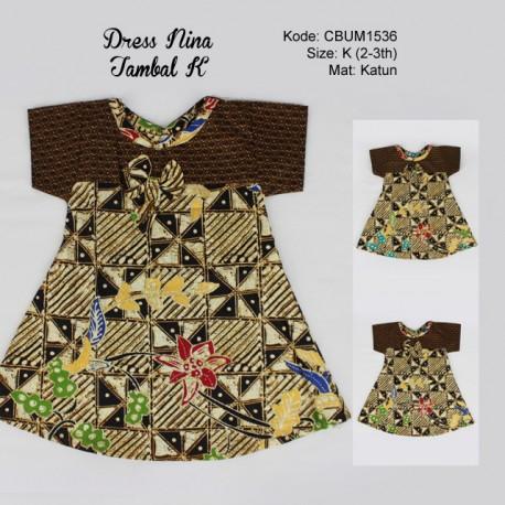 Dress Anak Nina Motif Tambal Size K