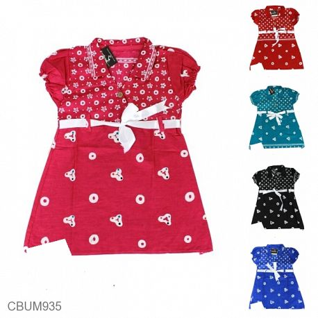 Dress Anak Pias Motif Jumputan Size S
