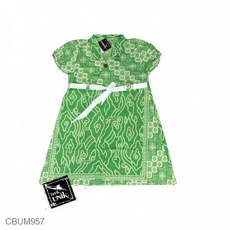 Dress Anak Pias Katun Motif Megamendung Size M