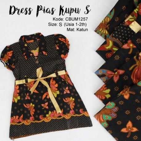 Dress Anak Pias Katun Motif Kupu Size S