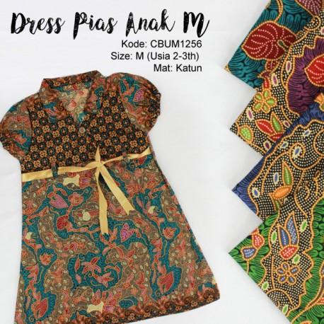Dress Anak Pias Motif Kembang Lepen Size M