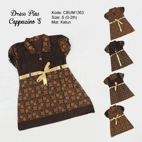 Dress Anak Pias Motif Cappucino Size S