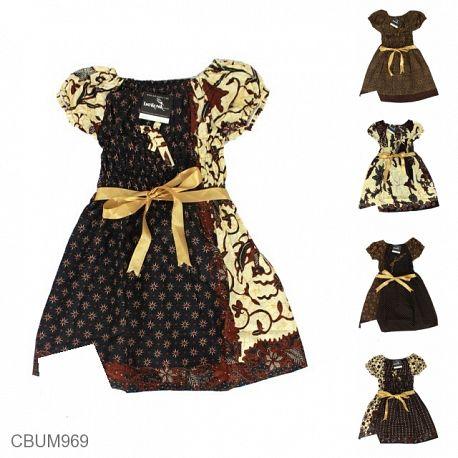 Dress Anak Qila Motif Capocino Tumpal Size M
