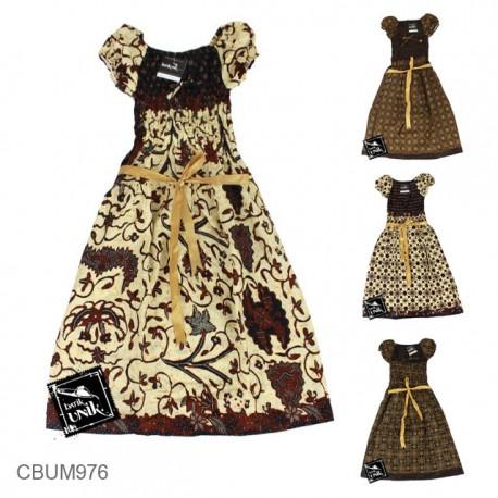 Dress Anak Qila Motif Capocino Tumpal Size XL