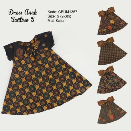Dress Anak Nina Motif Santoso Size S