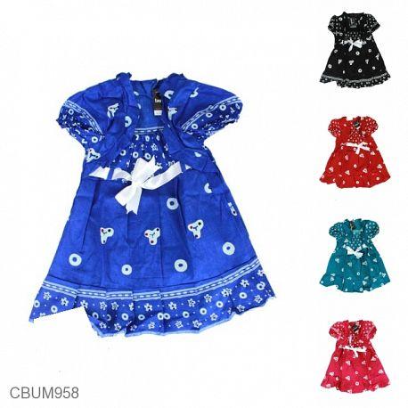 Dress Anak Yolanda Motif Jumputan Tumpal Size S