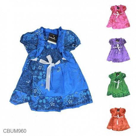 Dress Anak Yolanda Motif Krokot Tumpal Size S
